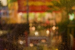 Palma in the night (Victorio Avio) Tags: palma palms night salsa club london street rain window colorful colorfull colour autumn uk