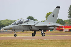 MM55220 (61-16) Alenia Aermacchi T-364A Master Italian Air Force Takeoff RIAT RAF Fairford 13th July 2018 (michael_hibbins) Tags: mm55220 6116 alenia aermacchi t364a master italian air force takeoff riat raf fairford 13th july 2018 italy europe european aeroplane aviation aircraft aerospace airplane aero airshow airfields military defence strategic trainer multiengined multirole ng jet jets