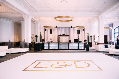 """Custom Bar and Vinyl Wrapped Dance Floor by Unique Events at Tea Room in Des Moines • <a style=""""font-size:0.8em;"""" href=""""http://www.flickr.com/photos/81396050@N06/29886373757/"""" target=""""_blank"""">View on Flickr</a>"""