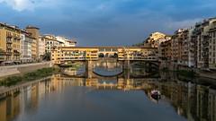 Ponte Vecchio (Sworldguy) Tags: italy pontevecchiio roman water arnoriver reflections florence bridge italia firenze architecture travelphotography wideangle sonya73