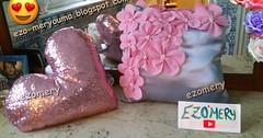 طريقة خياطة مخدات للعرايس و للديكور باللون الفضي و الوردي تحفة sew pillow flower (ezo-handmade) Tags: اشغال يدوية الخياطة الطرز و خياطة وسائد
