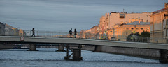 Passerelle sur la Fontanka (RarOiseau) Tags: couchant canal passerelle russie saintpétersbourg