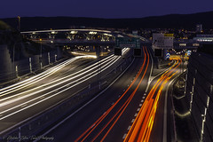 Lines v2.... (- photozol -) Tags: sundsvall västernorrland sweden sundsvallsbron sony ne sel1670z zeiss carlzeiss light night nightscape city cityscape motorway bridge lights e4 e mount europe scandinavia architecture building art apsc sea new bay neon