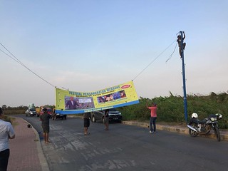 Banners and posters going up all over Merauke, Indonesia for the Friendship Festival