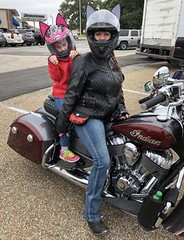 Mother/Daughter Moto (BikerKarl2018) Tags: motherdaughter moto badass motorcycle helmet store biker stuff motorcycles