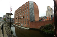Manchester (956) (benmet47) Tags: city urban buildings architecture art wallart mural water canal rochdalecanal reflection