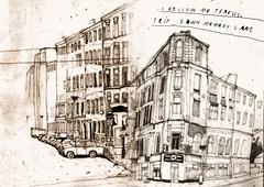 i follow my tracks (sandra rummler) Tags: sandra rummler sketch ostberlin eastberlin illustration