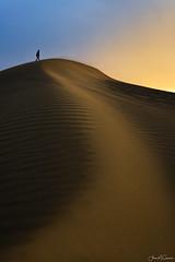 The Sandbox (Aron Cooperman) Tags: aroncooperman california landscape openlightphoto september2016 sunset nikond800 sand dunes person desert curves scurve nikon 2470 beach sky