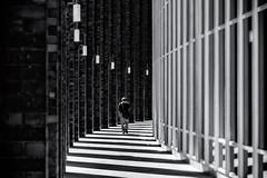 It`s a long way home (michael_hamburg69) Tags: hamburg germany deutschland hansestadt lines curves monochrome amalsterfleet ziegel arkadengang säulen brickstones spaziergang walk pillar shadow light man herrengrabenfleet