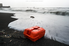 Is there a hope? (Emykla) Tags: napoli industriallandscape sand sea storm mare tempesta onde waves orange arancio contrast contrasto sangiovanniateduccio nikond3100 pollution inquinamento tank tanica