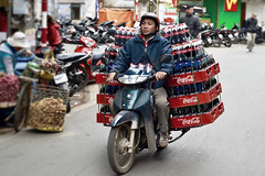 Motorbike Delivery   Hanoi Vietnam (Paul Tocatlian   Happy Planet) Tags: motorbike motorcycle hanoi vietnam vietnamese cocacola delivery street streetphotography candid candidphotography paultocatlian happyplanet