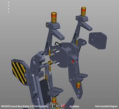 LaunchArmBase_09 (kyewans) Tags: macross himetalr display base launch arm 3d print
