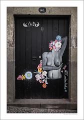 Public nudity (G. Postlethwaite esq.) Tags: autonomousregion fujix100t madeira portugal breasts cobbles doorway nude nudity oldtown photoborder streetart woman zonavelha