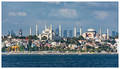 Sultanahmet Mosque & Hagia Sophia, Istanbul [1450] (my.travels) Tags: istanbul bluemosque mosque hagiasophia turkey travel nikon d7200 panorama city building architecture history postcard historic church tr