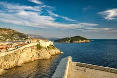 Dubrovnik harbour (thijs.coppus) Tags: ocean sea zee strand beach sunset wolken clouds lucht sky kingslanding gameofthrones game citywall stadsmuur kasteel castle town stad city kroatie croatia dubrovnik