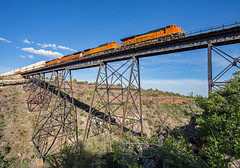 ZWSPPHX7 at Big Hell Canyon Drake, AZ (Ray C. Lewis) Tags: trains railroad railways transportation bnsf burlingtonnorthernsantafe phoenixsub big hell canyon drake az arizona bridge