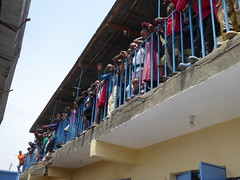 Feet lined up (prondis_in_kenya) Tags: kenya nairobi colddryseason kayole tujisaidie school vbs holiday lunch udp urbandevelopmentprogramme asc participant balcony