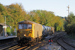Oxted, Surrey UK  |  2018 (keithwilde152) Tags: br class731 73109 73128 oxted surrey uk 2018 landscape station town platforms tracks rhtt railhead treatment train gbrf electrodiesels outdoor autumn sun