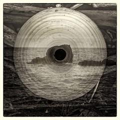 (giovdim) Tags: seascape landscape oros rock sea plate plastic incamera multiexposure sepia illusion disk doubleexposure time space perception spinning rotation superposition