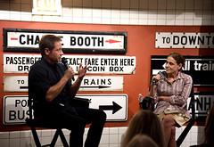 BIG CITY BOOK CLUB: DAVID DUCHOVNY IN CONVERSATION WITH GINIA BELLAFANTE (New York Transit Museum) Tags: brooklyn nyc davidduchovny newyork newyorkcity newyorktransitmuseum newyorkcitytransit