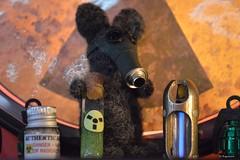 The Gas Mask Mouse (Bo Ragnarsson) Tags: mouse gasmask radiation tritium mus stalker fallout boragnarsson nålfiltning needlefelting