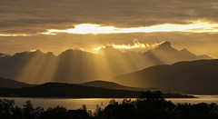 Sun setting - looking west from Tromso, Norway (Wayne~Chadwick) Tags: norway2018