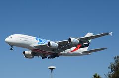 """Emirates 2020 Dubai UAE Expo Livery (""""Blue Bubbles"""") A380-861 (A6-EOC) LAX Approach 2 (hsckcwong) Tags: emiratesairlines emirates a380861 a380800 a380 a6eoc 2020expolivery 2020dubaiexpolivery 2020expo lax klax"""
