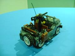 DSC01137 (TekBrick) Tags: lego custom ww2 usa wlly jeep parts bricks war minifigure wheels riffle moc