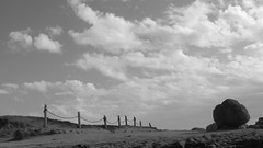 J. 303 (Rand Luv'n Life) Tags: odc our daily challenge emily dickinson j 303 poem text fence gate soul heaven road clouds rock stone still life monochrome blackandwhite outdoor cabrillo national monument san diego california landscape