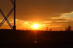 Sunset On The Shining Rails (recekasten) Tags: trains railroads cn neenah medina junction night exposure gp9 classic wisconsin csx fanta fe santa