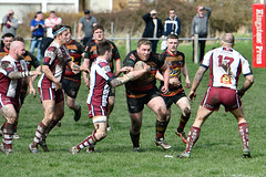 Congested (Steve Barowik) Tags: yorkshire westyorkshire nikond500 barowik leeds ls26 stevebarowik sbofls26 rugbyleague rl nationalleague 70200mmf28gvrii sport competition try conversion penalty sinbin referee linesman ball pitch sticks posts team watercarrier dx cropframe kick pass offload dropkick forwardpass centre wing prop forward back fullback unlimitedphotos wonderfulworld quantumentanglement shawcrosssharks thornhilltrojans nationalconferencedivisionone