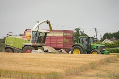 Claas Jaguar 900 SPFH filling a Herron Trailer drawn by a John Deere 6930 Tractor (Shane Casey CK25) Tags: claas jaguar 900 spfh filling herron trailer drawn john deere 6930 tractor bartlemy wholecrop whole crop silage barley self propelled forage harvester traktor traktori tracteur trekker trator ciągnik tillage silage18 silage2018 grass grass18 grass2018 winter feed fodder county cork ireland irish farm farmer farming agri agriculture contractor field ground soil earth cows cattle work working horse power horsepower hp pull pulling cut cutting lifting machine machinery nikon d7200