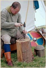Battle of Hastings Re-enactment - metal worker (pg tips2) Tags: battleofhastings battle battlesussex thebattleofhastings1066 reenactment reenactors reenactments 1066andallthat 1066 2018