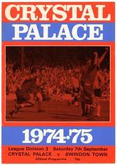 CRYSTAL PALACE v SWINDON TOWN 1974-75 (bullfield) Tags: crystalpalace swindon 1974