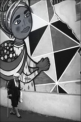 when savannah smiles (bostankorkulugu) Tags: old oldwoman fabbricadelvapore pao orticanoodles mural paolobordino ivantresoldi waltercontipelli alessandramontanari claudioabbado woman walk murals graffiti milan milano smile wall art lombardia lombardy artwork italy italia