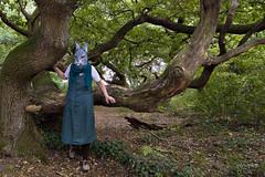 Mutter Hase (photophop) Tags: kratteichen buchholz selbstporträt hasenmaske rabbitmask