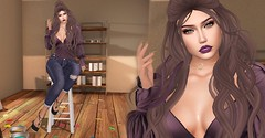 Home painting (Dan Gericault Lol and XD 4Evah) Tags: secondlife sl slfashion blueberry mldesigns ryr rockyourack slackgirl shoes heels wasabi hair egozy skin akerukadeluxe akerukaak mesh eyes maitreya bento head