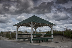 End of Season (scottnj) Tags: 365the2018edition 3652018 day267365 24sep18 pavilion gazebo clouds beach shore sand seasideheights nj newjersey oceancounty oceancountynj