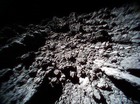 Surface of Ryugu from Rover 1B, No. 1