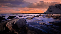 Sony A7R II + Laowa 12/2.8 Zero-D (viktor_viktor) Tags: norway lofoten seascape intensivecolors sunset northocean longexposure orange dark wwwverybiglobocom viktorpavlovic sonya7rii laowa1228
