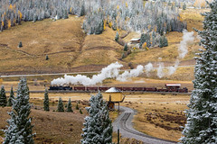 Los Pinos (Kyle Yunker) Tags: steam cumbres toltec scenic railroad train water tower narrow gauge los pinos snow