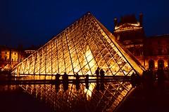 Pei's pyramid (joanneclifford) Tags: triangles diamonds architecture bicentenary frenchrevolution 1989 françoismitterand 1855mm fujifilmxt20 museum paris thelouvre pyramid leohmingpei