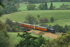 80136 approaching Goathland (ThanksDrBeeching) Tags: train railway pociąg kolej zug bahn eisenbahn steam steamengine nymr northyorkmoors northyorkshiremoors northyorkshiremoorsrailway 80136 goathland 4mt tankengine