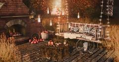 There is harmony in Autumn (desiredarkrose) Tags: garden outdoor gardendecor tarte keke hpmd revival lb trompeloeil swing gardenbench fireplace sldecor virtual