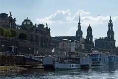 River boats, Dresden (stephengg) Tags: germany free state saxony dresden river elbe paddle steamer boat