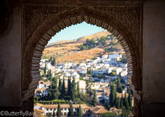 Sacromonte Views   #Sacromonte #Alhambra #Fortress #Palace #View #Window #Architecture #IslamicArchitecture #MudéjarArchitecture #Arches #Archways #AlAndalus ‎#Andalucia ‎#Spain ‎#TheGoldenTriangle ‎#Granada ‎#TheGoldenAgeOfIslam ‎#Life ‎#Love #NasridPala (Sarwat Baig) Tags: life toneseekers love fortress nasridpalace arches alhambra andalucia archways mudéjararchitecture window thegoldentriangle butterflybaigphotography granada gameoftones spain sacromonte architecture traveldiaries liveforthestory palace nasriddynasty mycanon travelphotographer view thegoldenageofislam islamicarchitecture alandalus