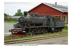 Vilhelmina. Disused SJ steam engine. Class E2 no. 1127. 15.8.18 (Roger Joanes) Tags: sweden vilhelmina railways sverige