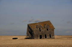 A long time coming.... (Len Langevin) Tags: abandoned old house home forgotten derelict weatheredwood farm rotting falling alberta canada nikon d7100 nikkor 18300