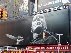 Halloween 2018 Movie Billboard 3142 (Brechtbug) Tags: halloween 2018 movie billboard horror film billboards nyc 10202018 new york city michael myers jamie lee curtis judith john carpenters no dr samuel sam loomis doctor adventure holiday 7th ave avenue 50th st street standee monster killer knife slasher 1978 was original 40 years ago