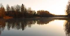 A new day awakening (malin.edlund) Tags: fall autumn nature sunrise sweden october water mirror